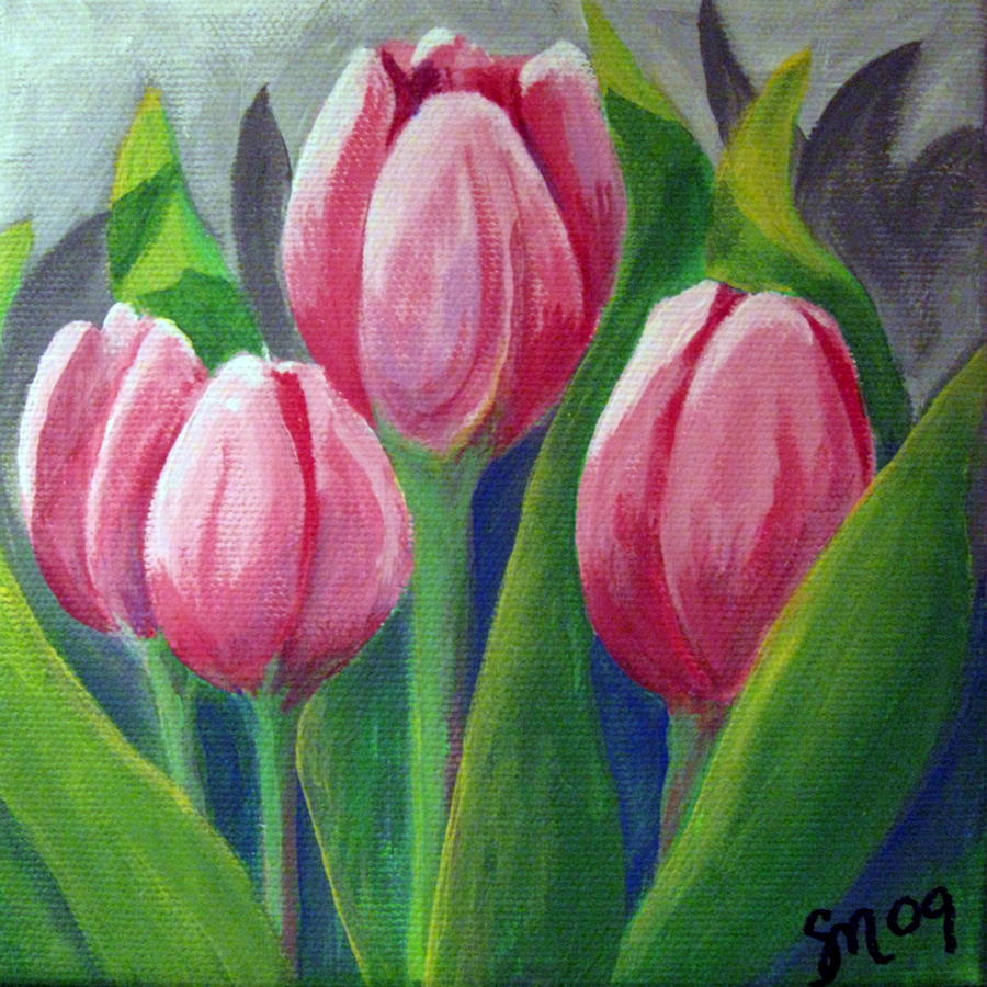 Tulips Painting - Tulips by Sharon Marcella Marston