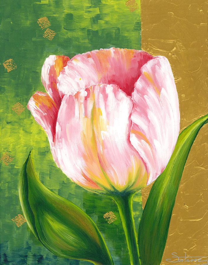 Tulip Painting - Tulip by Suntaree Nujai