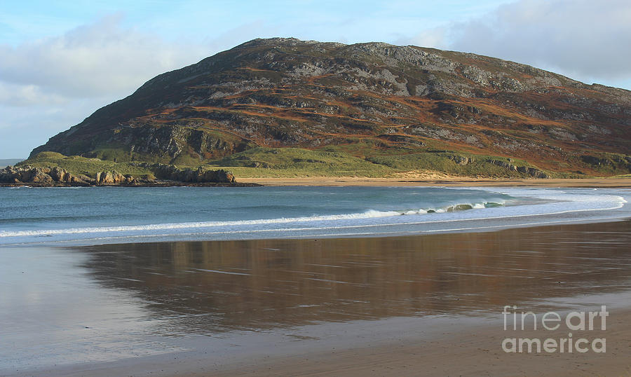 Tullagh Strand Reflections Donegal Ireland by Eddie Barron