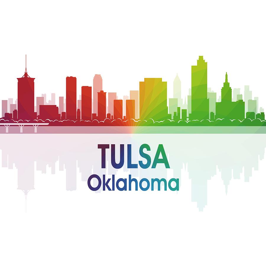 Tulsa Digital Art - Tulsa Ok 1 Squared by Angelina Tamez