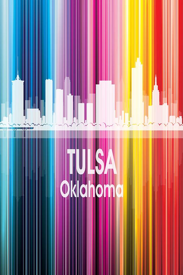 Tulsa Digital Art - Tulsa Ok 2 Vertical by Angelina Tamez