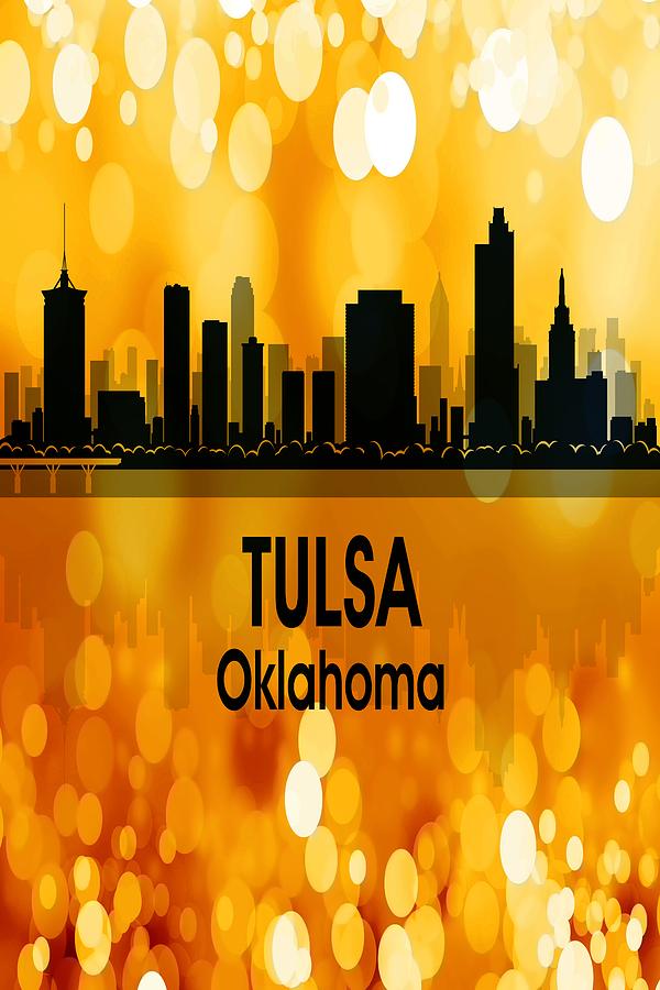 Tulsa Digital Art - Tulsa Ok 3 Vertical by Angelina Tamez
