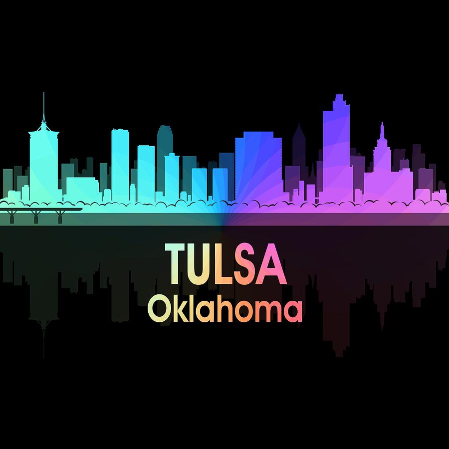 Tulsa Digital Art - Tulsa Ok 5 Squared by Angelina Tamez