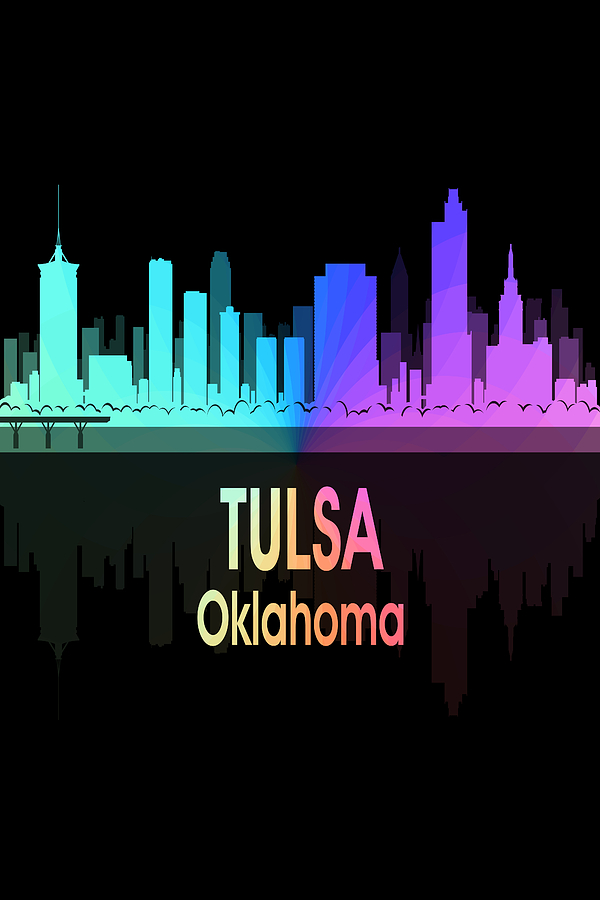 Tulsa Digital Art - Tulsa Ok 5 Vertical by Angelina Tamez