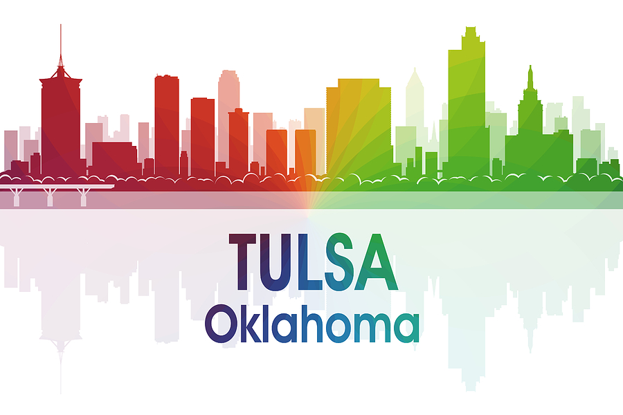 Tulsa Mixed Media - Tulsa Ok by Angelina Tamez