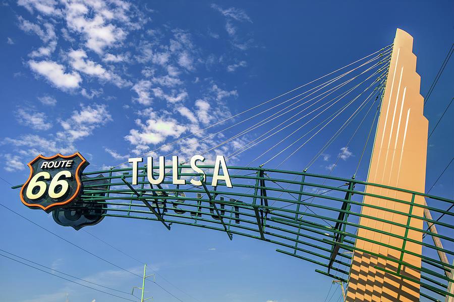 Tulsa Oklahoma Route 66 Sign - Color Edition Photograph