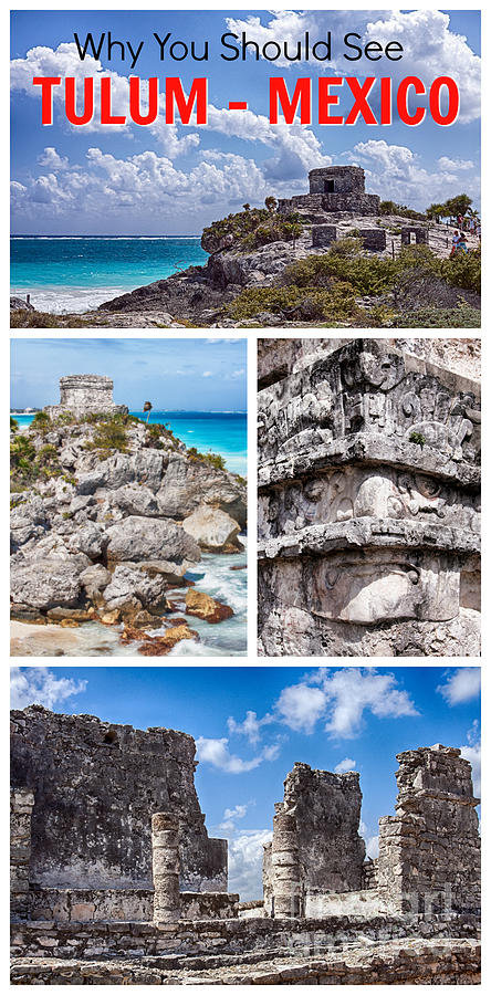 Tulum Photograph - Tulum, Mexico Collage by Tatiana Travelways