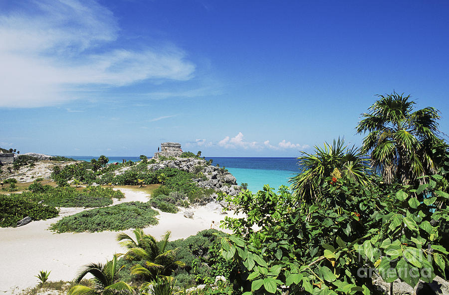 Ancient Photograph - Tulum Ruins by Bill Bachmann - Printscapes