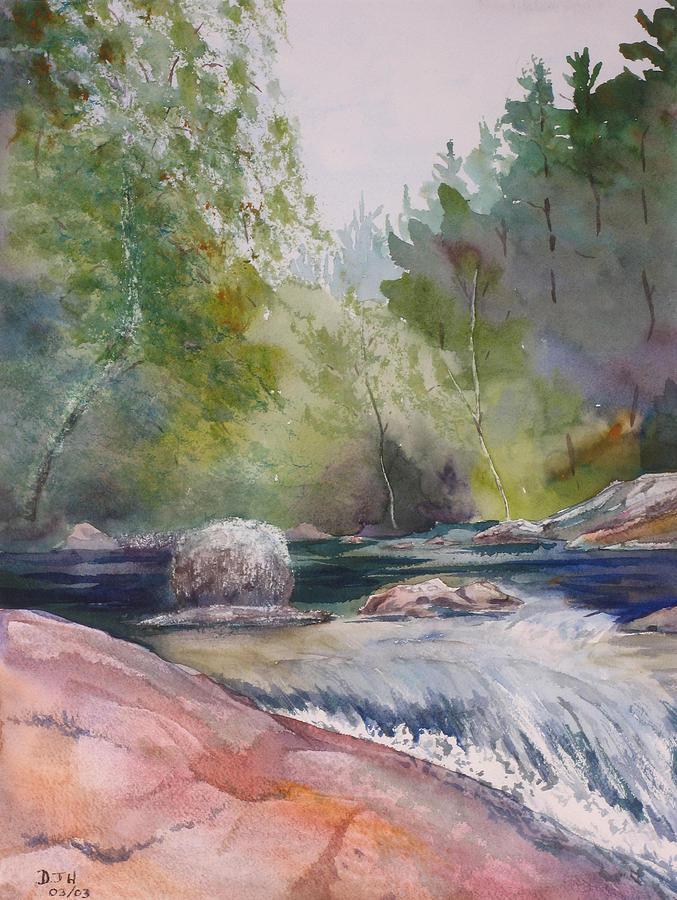 Water Painting - Tumbling Waters  by Debbie Homewood