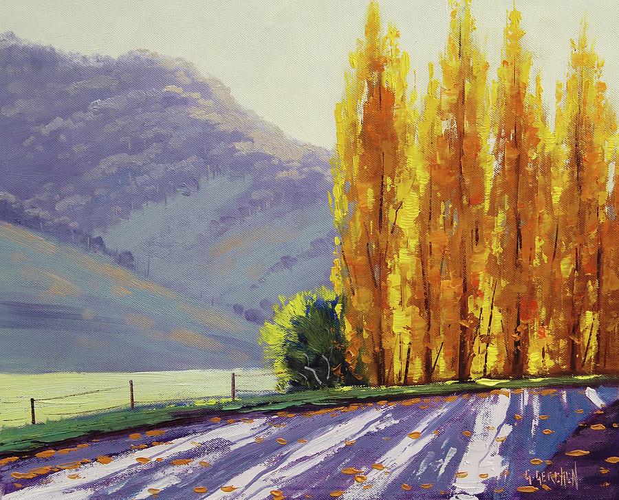 Tumut Autumn Poplars Painting