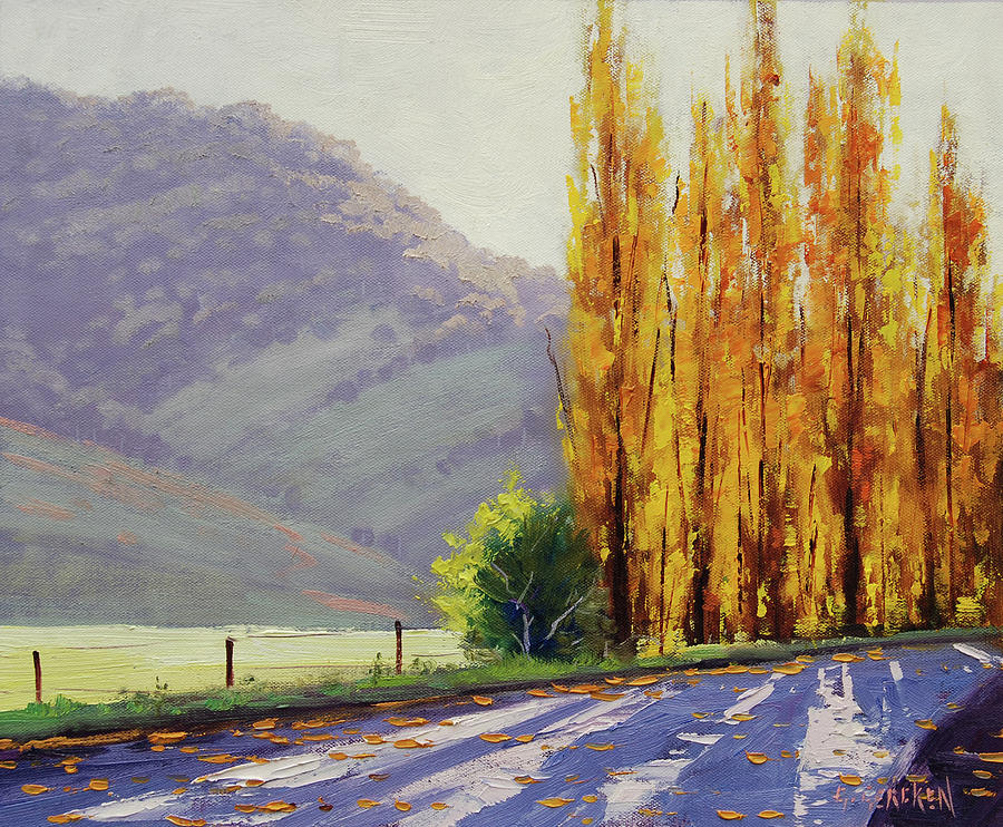 Fall Painting - Tumut Poplars by Graham Gercken