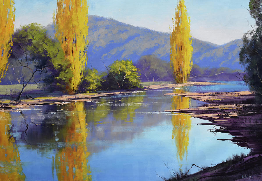 Tumut River Poplars Painting