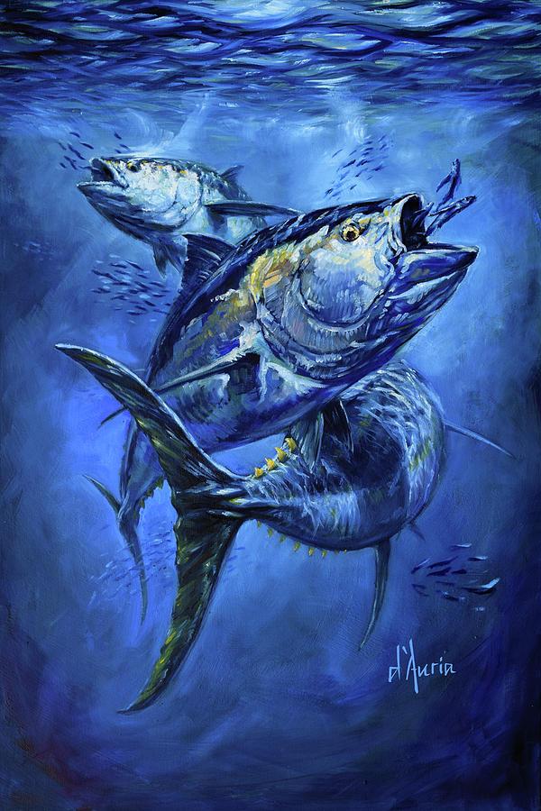 Tuna Painting - Tuna  by Tom Dauria