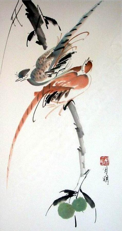 Chinese Painting Painting - Tune Of Harmony by Ming Yeung