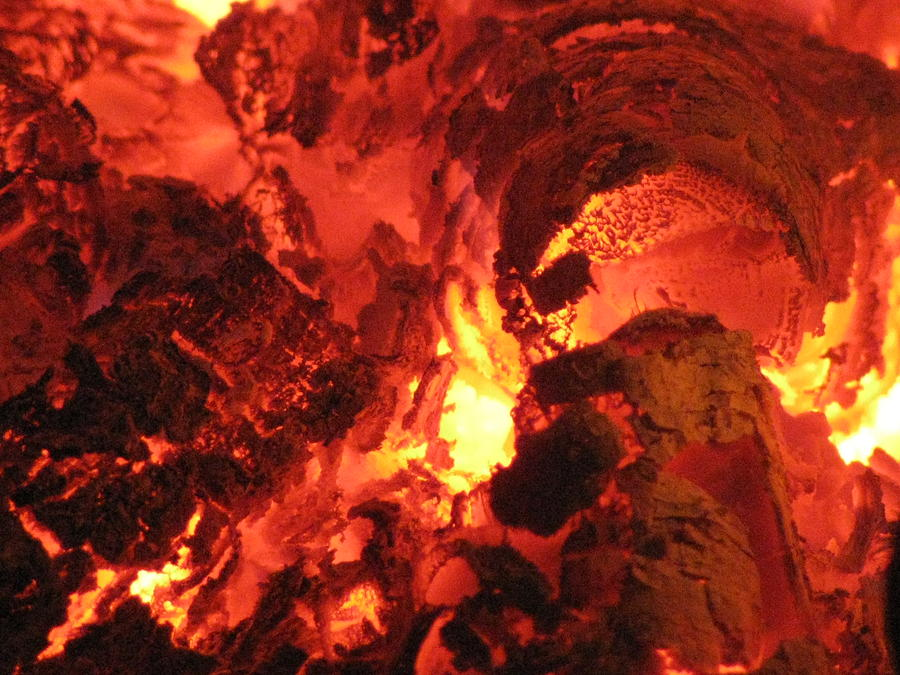 Fire Photograph - Tunnel by Covelli Studios