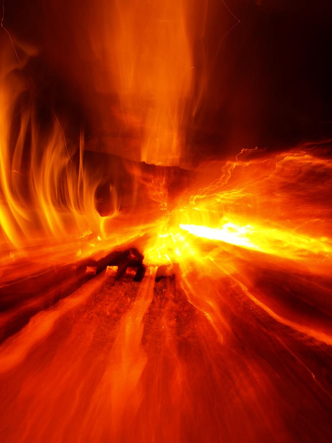 Fire Photograph - Tunnel Fision by Randall Slinkard