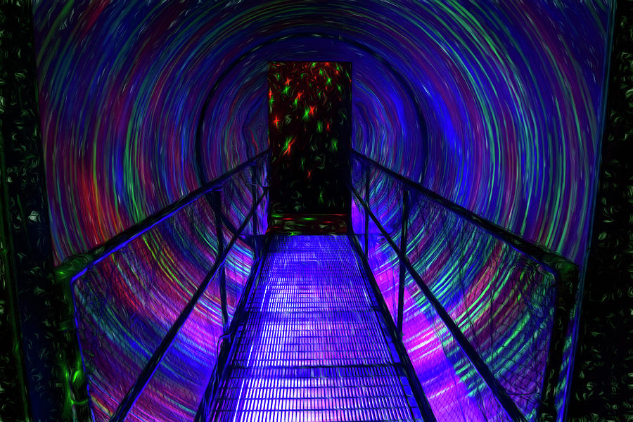 Tunnel Of Colorful Lights Photograph