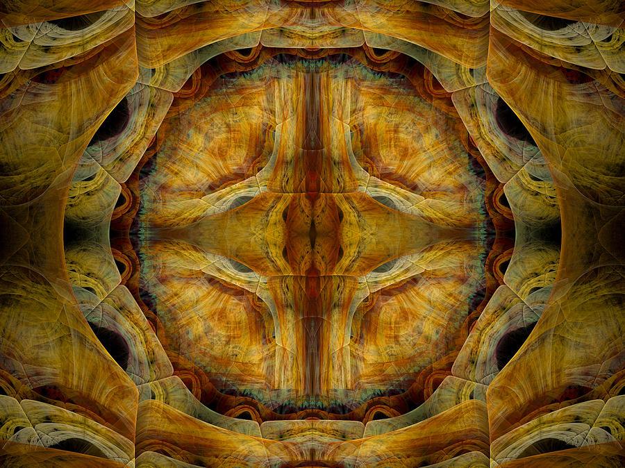 Fractal Digital Art - Tunnel Of Separation by Amorina Ashton