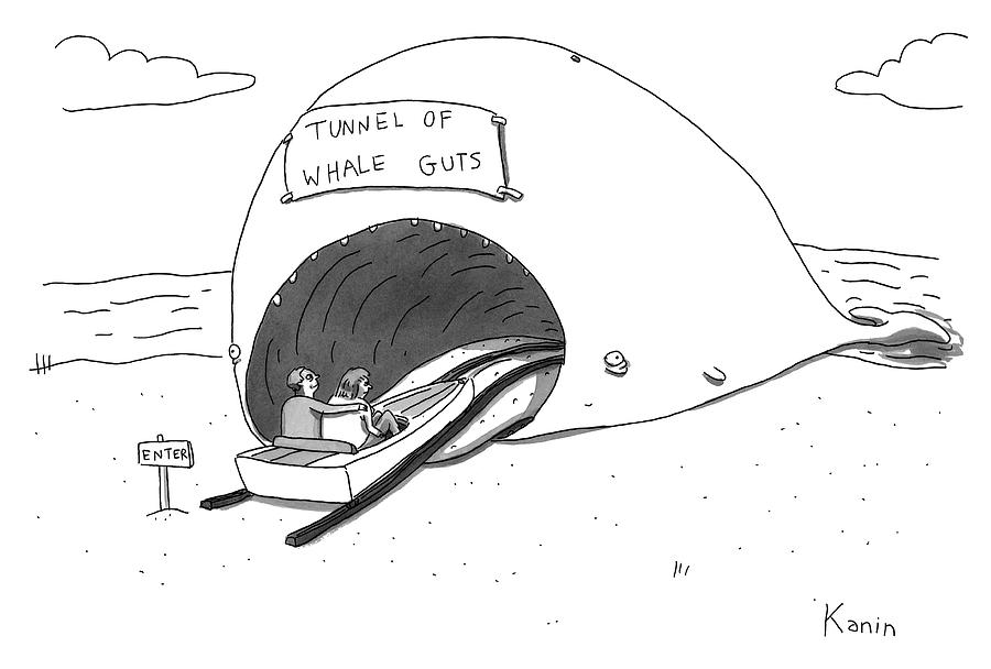 Tunnel of Whale Guts Drawing by Zachary Kanin