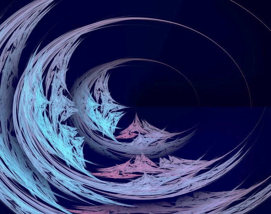Blue Digital Art - Tunnel Vision by Sherry Holder Hunt