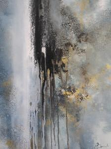 Abstract Painting - Tunneling by Olga Dmytrenko