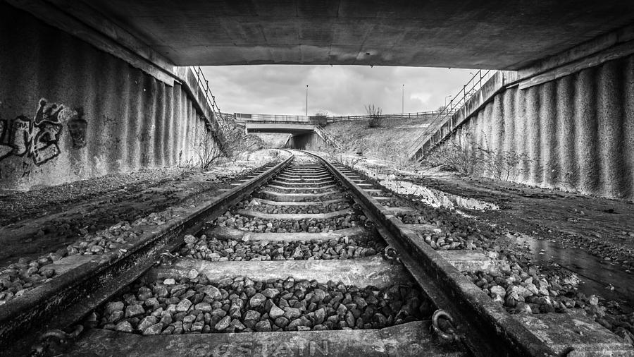 Train Photograph - Tunnels And Tracks by Gary Gillette