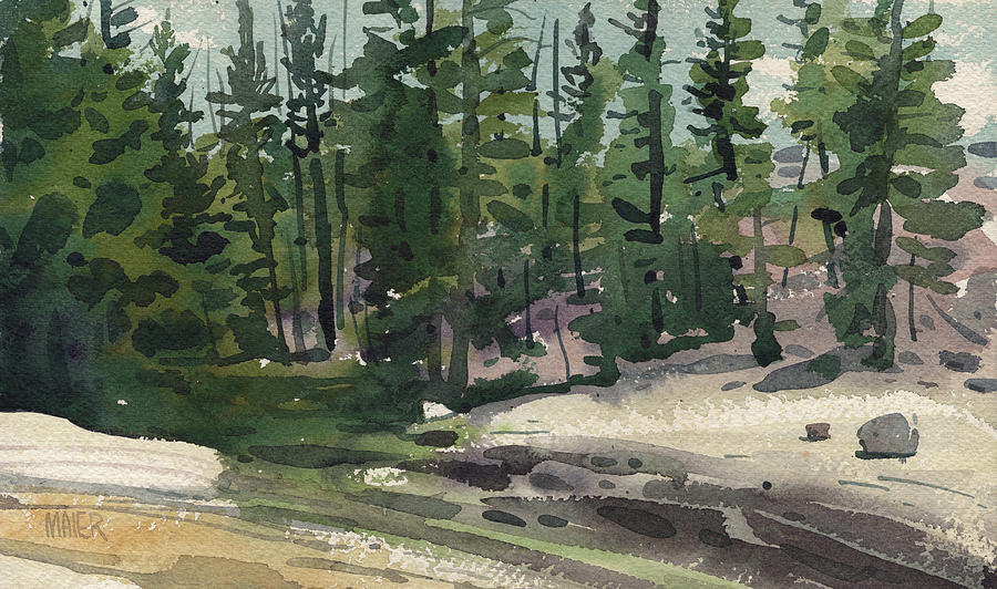 Tuolumne Painting - Tuolumne River by Donald Maier