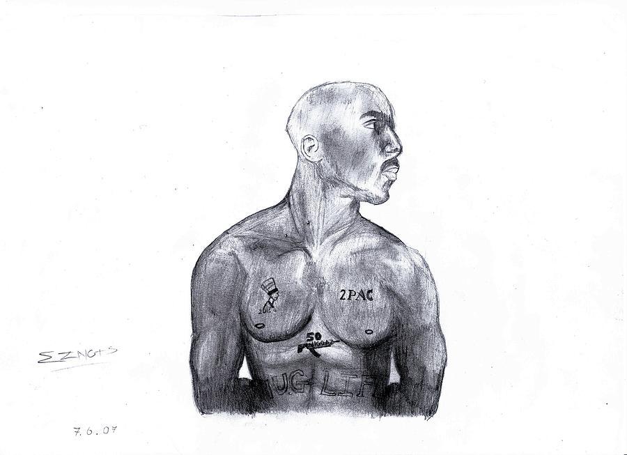 Tupac Shakur Drawing by E Xidic