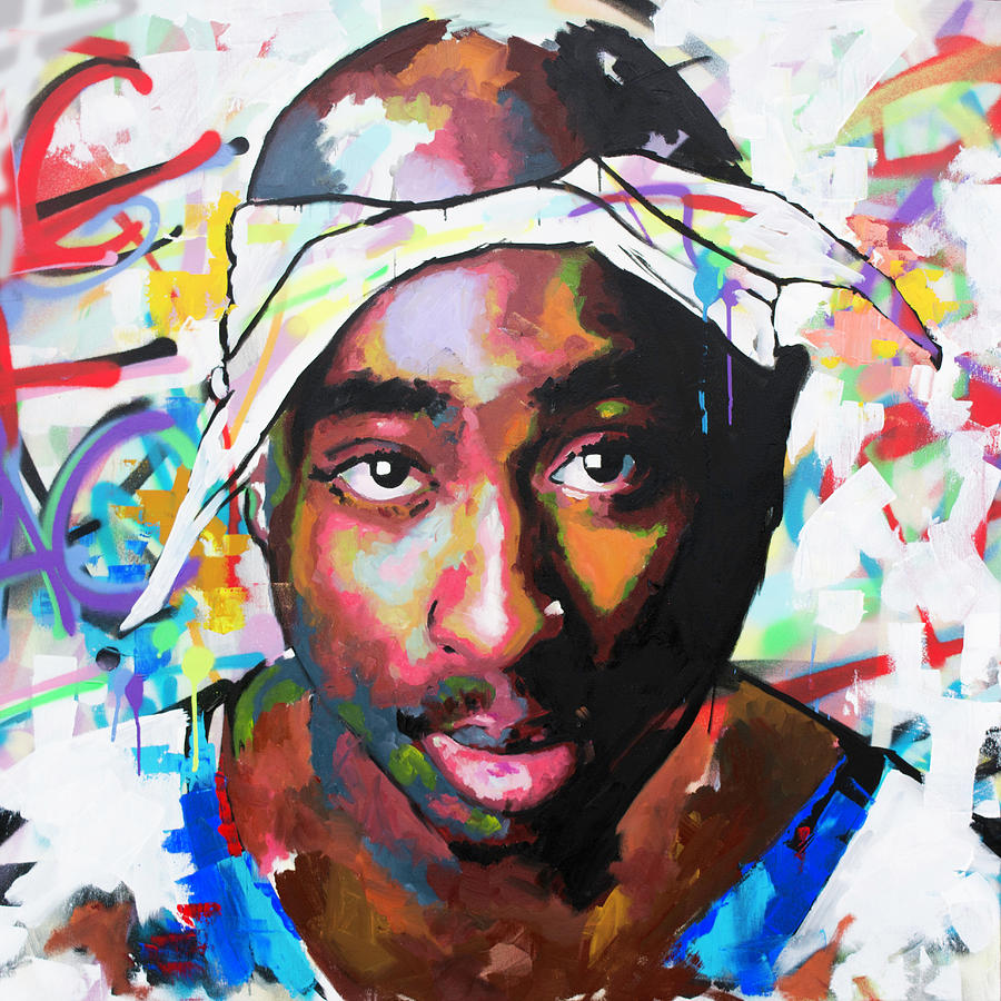 Tupac Painting - Tupac Shakur II by Richard Day