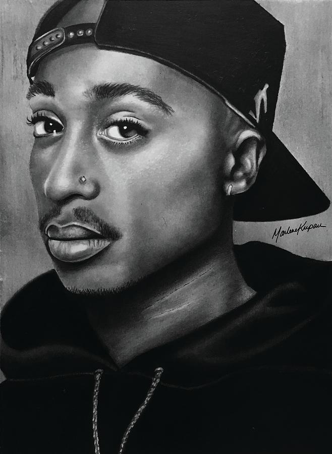Tupac Shakur Drawing by Marlene Kupau