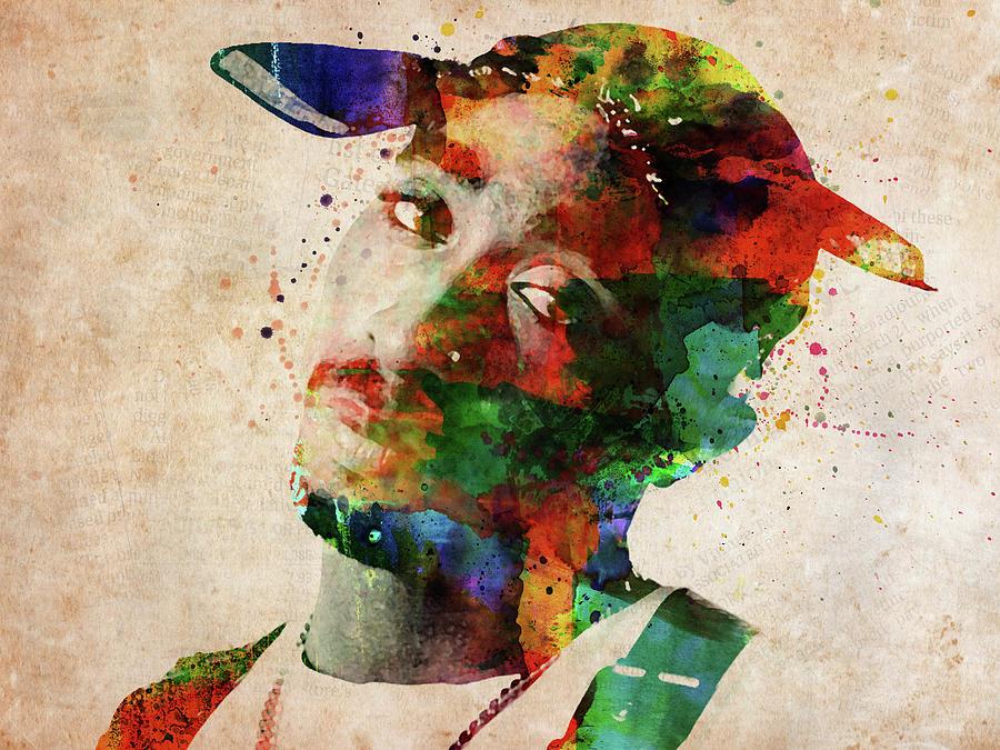 Tupac Shakur Digital Art - Tupac Shakur by Mihaela Pater