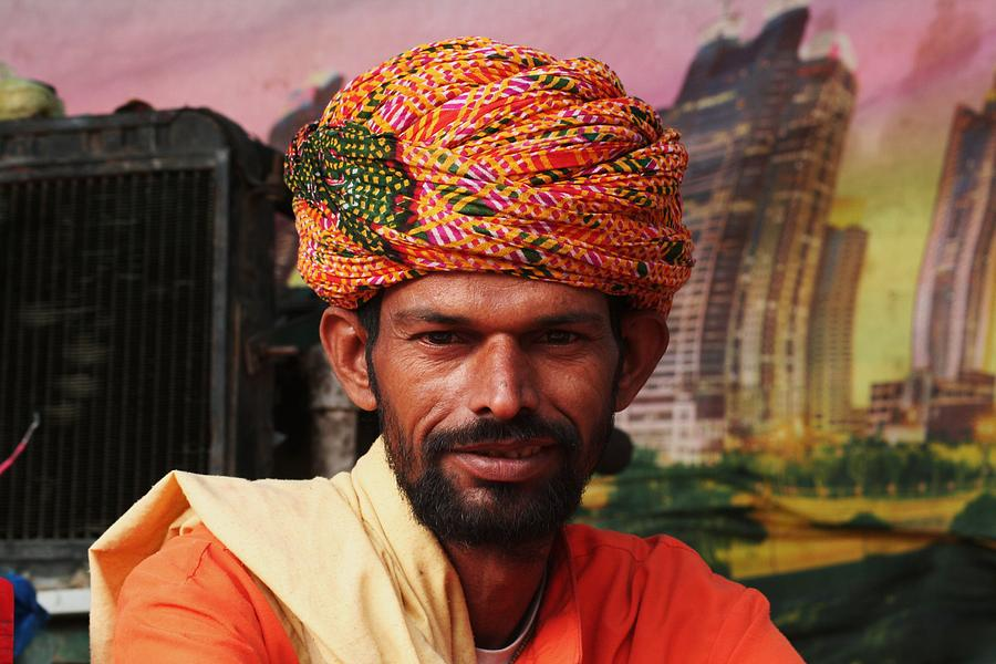 Indian Photograph - Turbanned Man by Mohammed Nasir