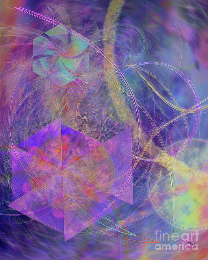 Abstract Digital Art - Turbo Blue by John Beck