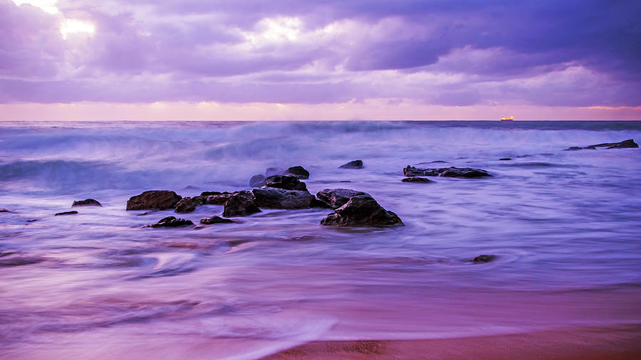Australia Photograph - Turbulent Daybreak Seascape by Merrillie Redden