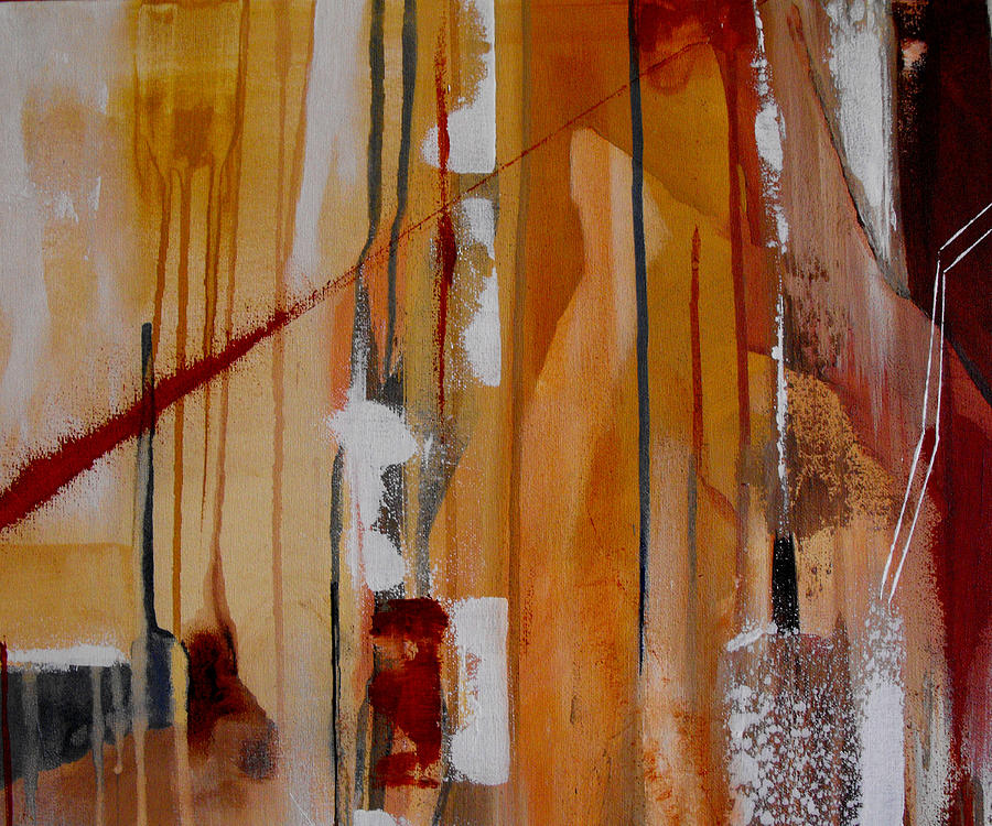 Abstract Painting - Turbulent Times by Ruth Palmer