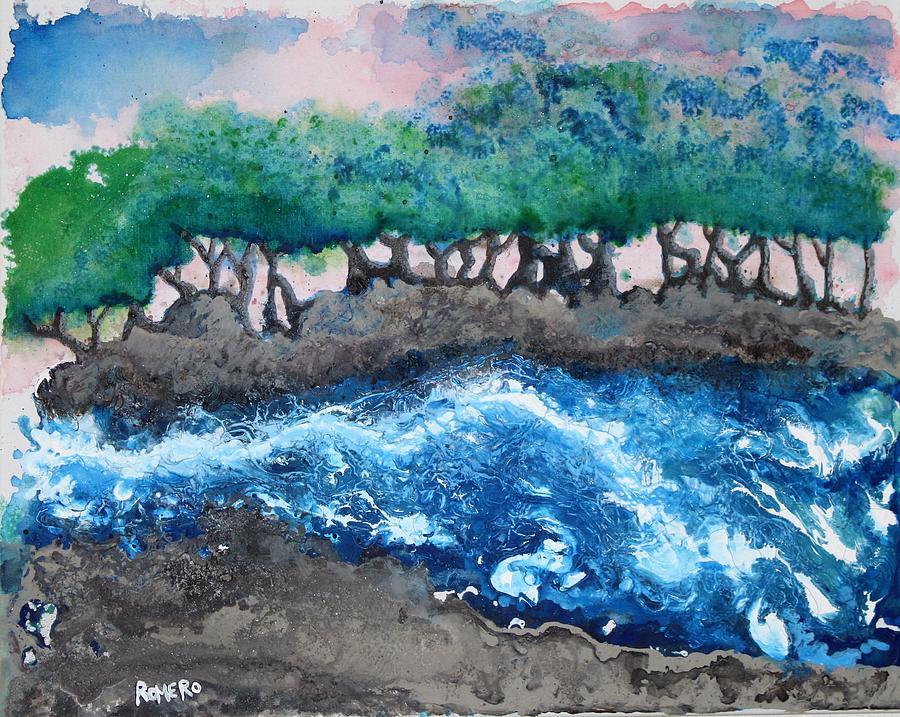 Acrylic Painting - Turbulent Waters by Antonio Romero