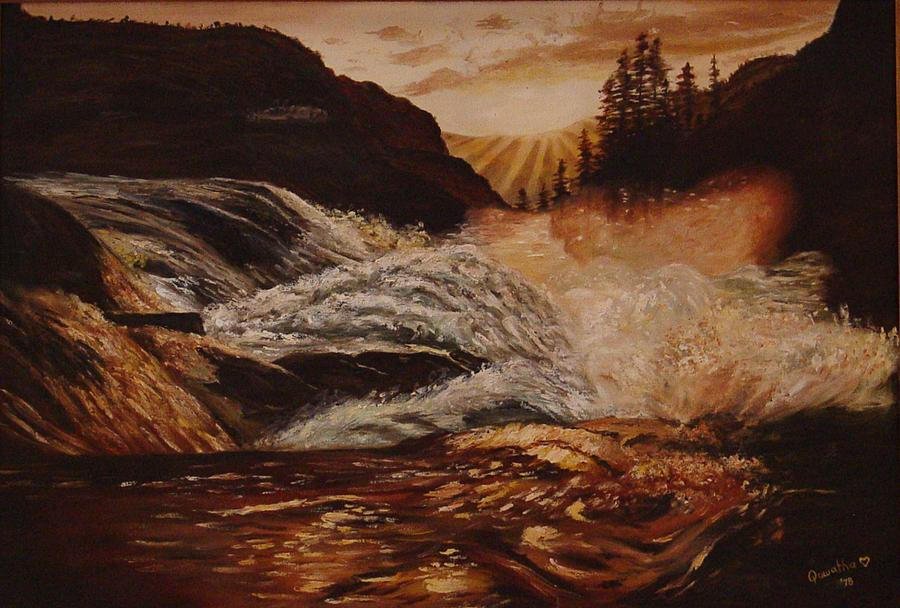 Water Painting - Turbulent Waters by Quwatha Valentine