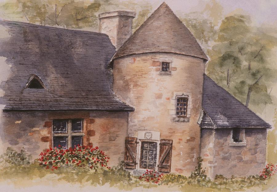 Watercolor Painting - Turenne  by Mary Ellen Mueller Legault