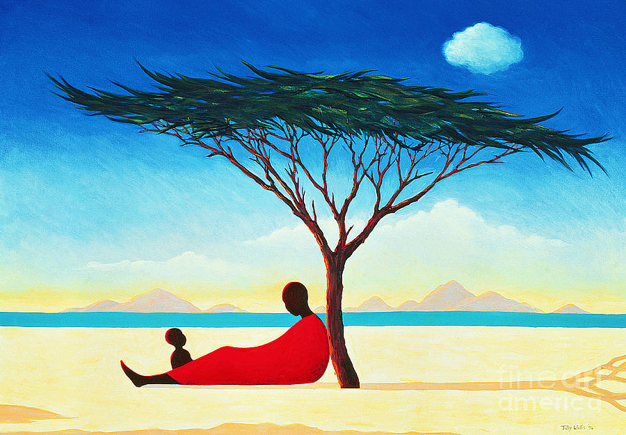 Mom Painting - Turkana Afternoon by Tilly Willis