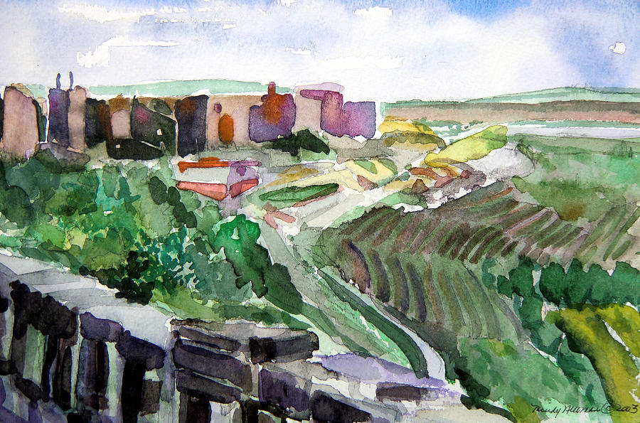 Turkey Painting - Turkey Iraq Wall On The Northern Border by Mindy Newman