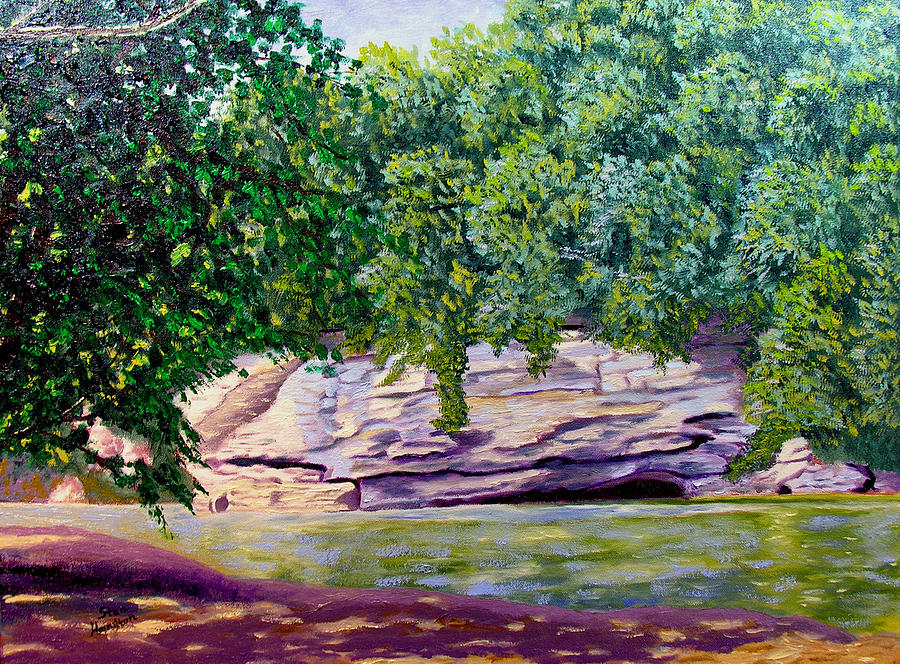 Creek Painting - Turkey Run by Stan Hamilton