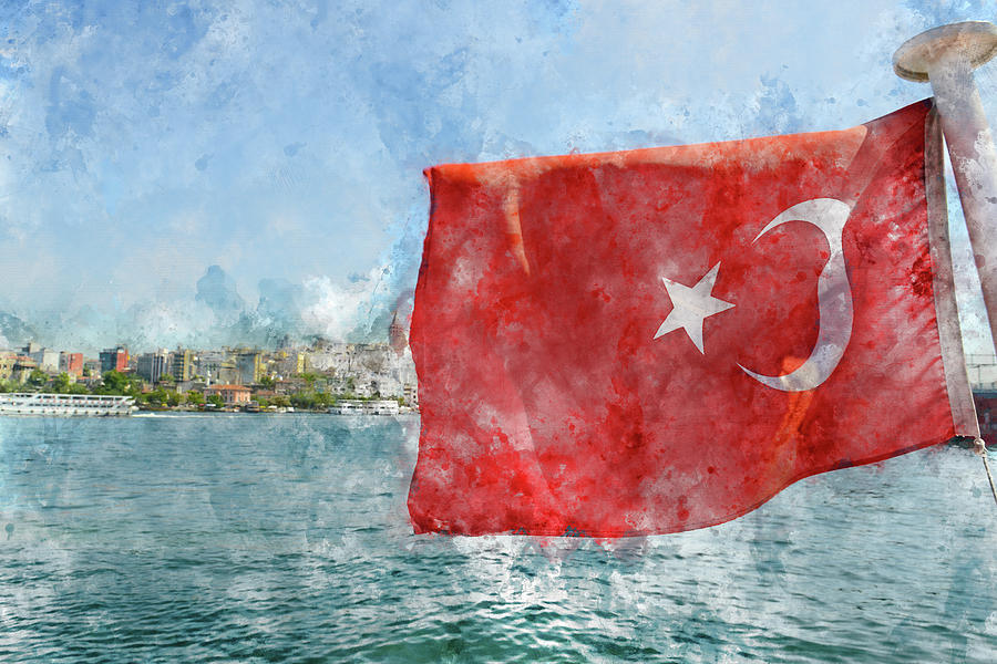 Turkish Flag by Brandon Bourdages