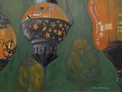 Turkish Lamps Painting by Allison Lucerne