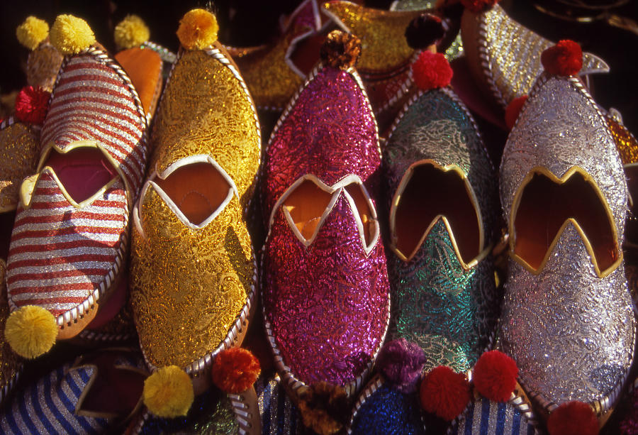 Bodrum Photograph - Turkish Slippers by Steve Outram
