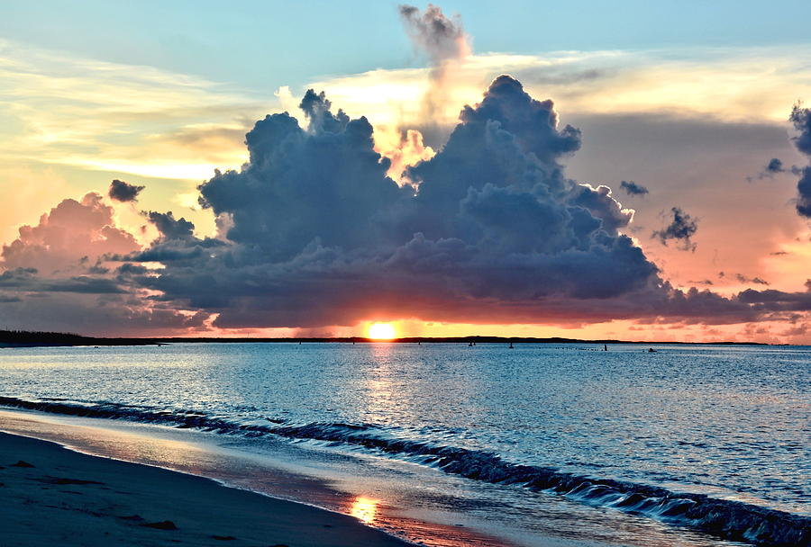 Turks And Caicos Grace Bay Beach Sunset Photograph