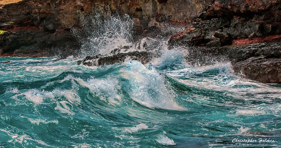Blue Photograph - Turmoil In Blue by Christopher Holmes
