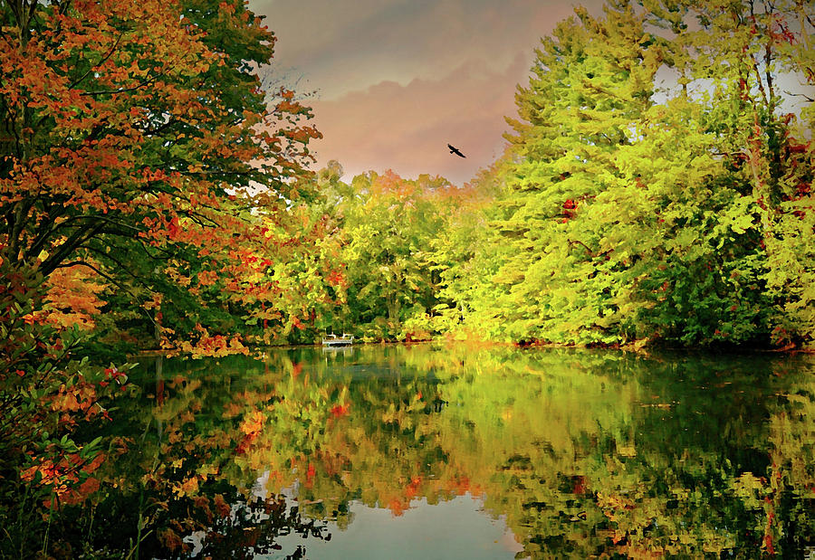 Autumn Landscape Photograph - Turn Of River by Diana Angstadt