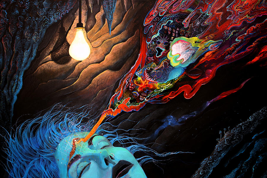 Consciousness Painting - Turn The Light On by Steve Griffith