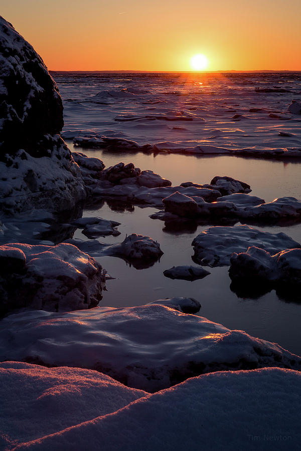 Turnagain Arm Photograph - Turnagain Winter Sunset by Tim Newton