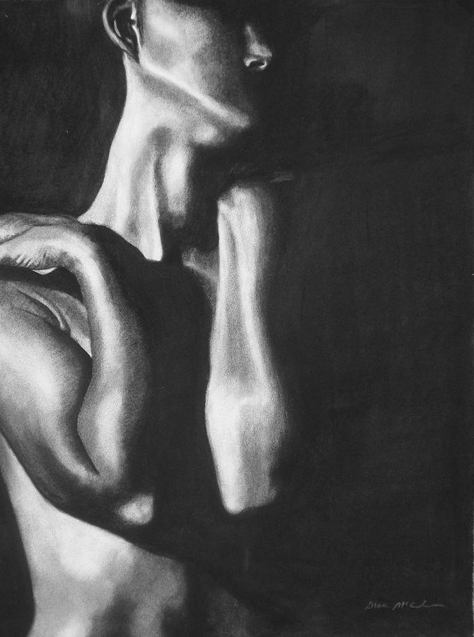 Figure Drawing - Turned Away by Grace McCracken